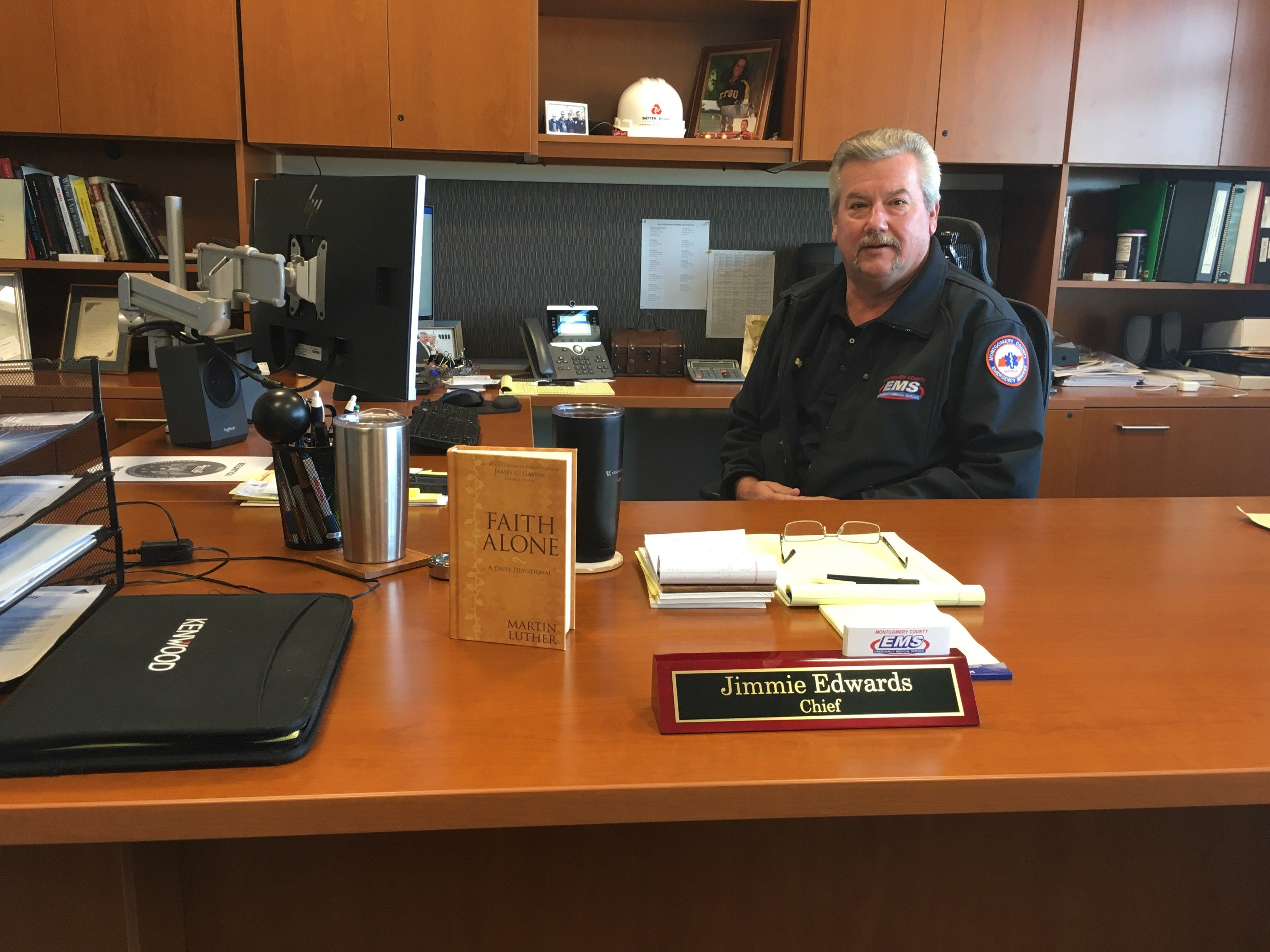 Jimmie Edwards has been promoted from county EMS chief, to a newly-created role as director of Emergency Services.