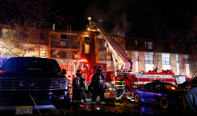 Multiple apartments at the Hillside Gardens in Woodbridge fire are damaged by a Tuesday night fire.