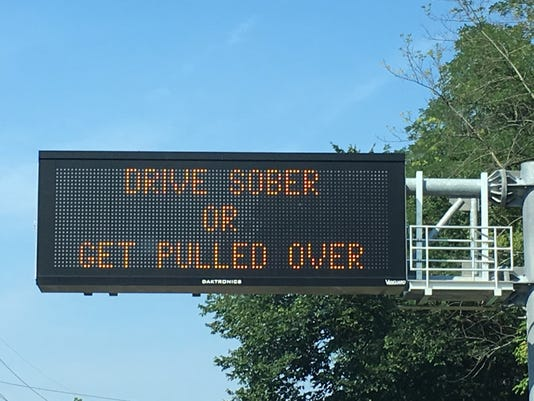 Drive Sober Or Get Pulled Over Sign