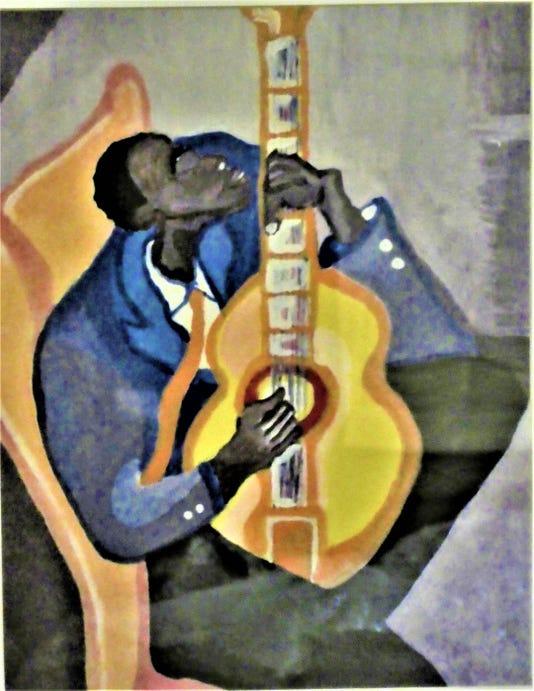 Guitar Player By Ken Alexander