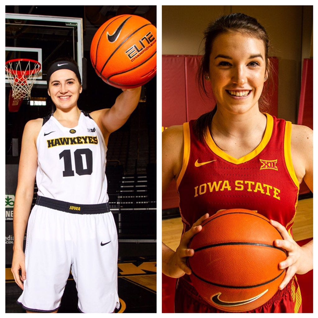 Iowa's Megan Gustafson, Iowa State's Bridget Carleton named ESPN all-Americans