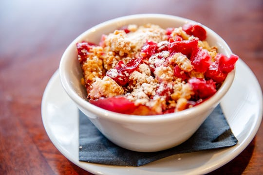 Cherry crisp from Harvey's in the Hotel Pattee Tuesday, Dec. 4, 2018.