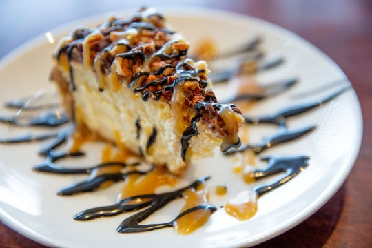 Turtle cheese cake from Harvey's in the Hotel Pattee Tuesday, Dec. 4, 2018.