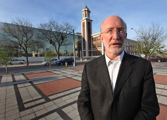 Cal Lewis in front of the Meredith Building on April 15, 2010. (John Gaps III/The Register)