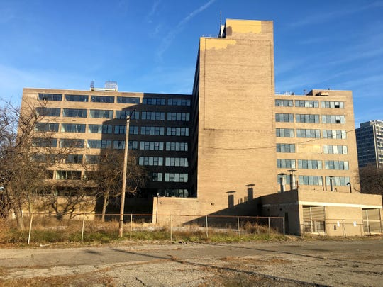 The former Shapero Hall, once part of Wayne State University, located in Lafayette Park in Detroit on December 5,  2018.