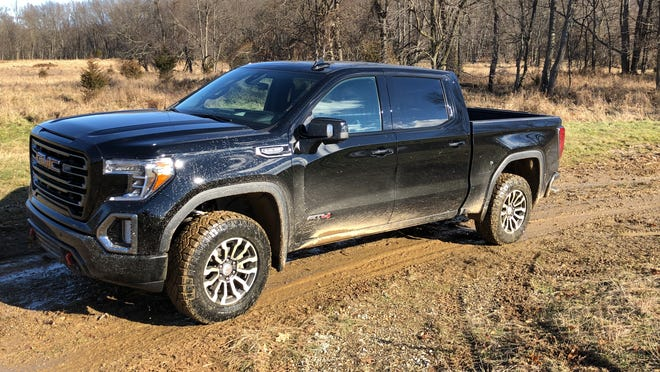 GMC Sierra AT4 at Eaton Corp.'s proving grounds in Marshall, MI.
