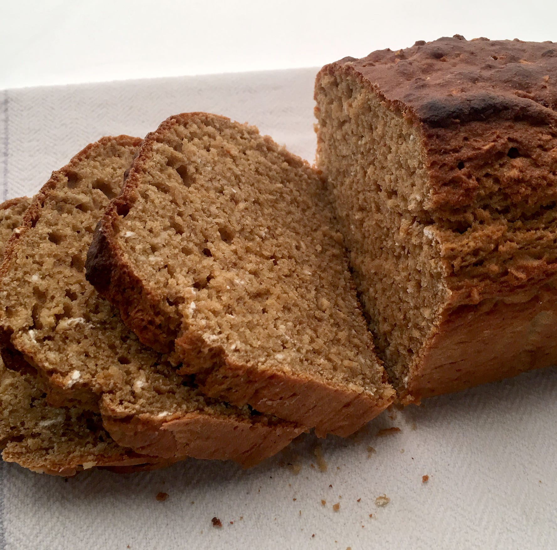 Boost fiber in beer bread by using whole-wheat flour