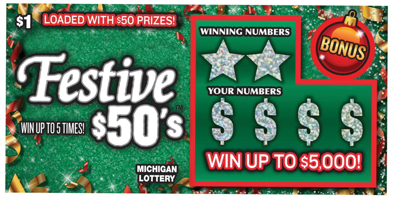 Michigan Lottery instant tickets: New holiday scratch-offs