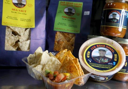 Jar Head Salsa with sea salt and chili lime tortilla chips in Davison on Thursday November 29, 2018.