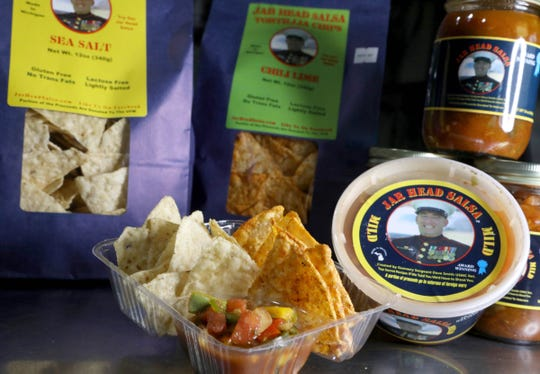 Jar Head Salsa with sea salt and chili lime tortilla chips in Davison on Thursday November 29, 2018.