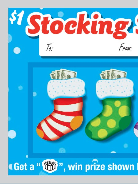 Stocking Stuffer instant lottery ticket.