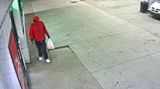 Suspect sought in Thanksgiving theft at Detroit gas station