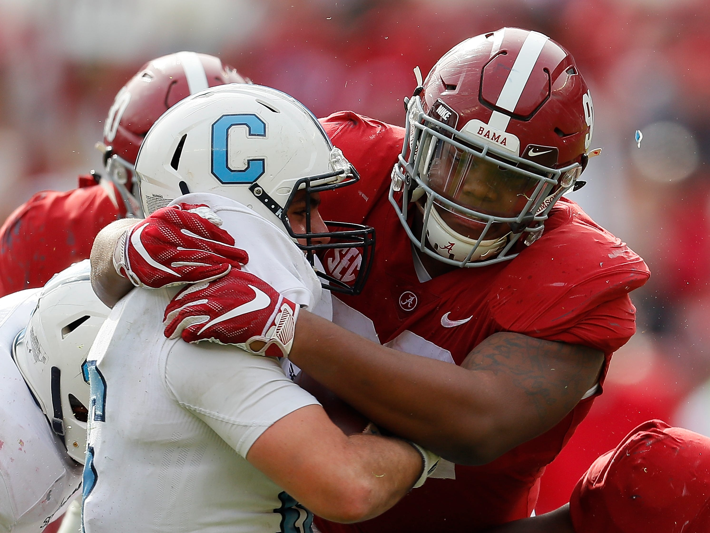 2. Quinnen Williams, DT, Alabama: Williams was under the radar entering this season, overshadowed by some of his previously more productive teammates, but he's come on as strong as any prospect in 2018 and comes from a college system that translates well to the one run in Detroit.