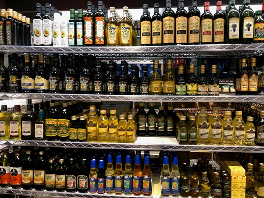 Olive oils at Nino's Salvaggio International Marketplace, which will open a fourth store in Bloomfield Township on Dec. 28.