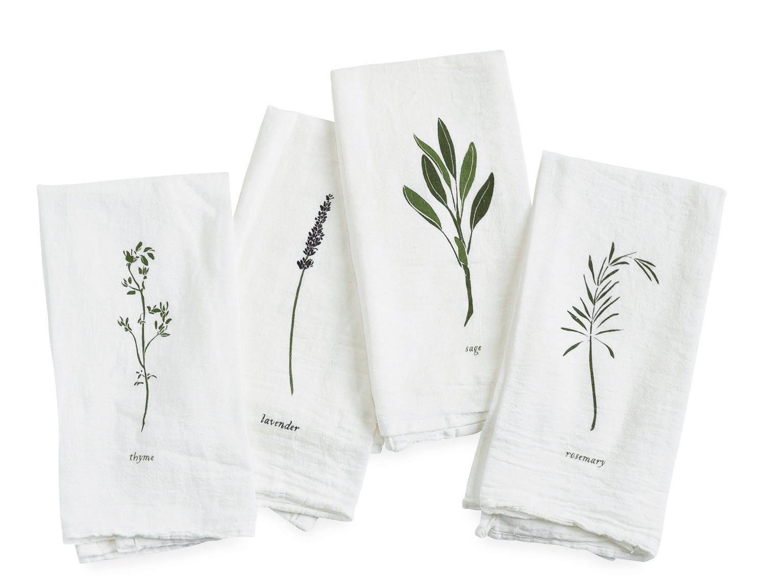 Looking for a gift for the foodie or gardener in the family? Berkley's June & December makes a fun Garden Herb Mixed Napkin Set for $38. Thyme, lavender, sage and rosemary are screenprinted on 100 percent flour sack cotton napkins.