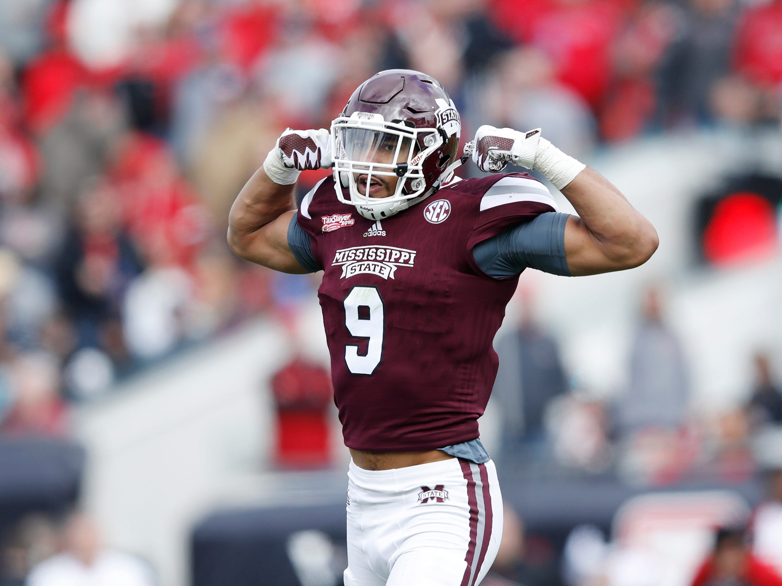 9. Montez Sweat, DE, Mississippi State: Another hefty sack producer, the former Michigan State recruit has reached his potential playing in the SEC, churning out 21.5 sacks over the past two seasons. Sweat is tall and long, but with a listed weight of 245 pounds, he would be limited to working as a strong-side linebacker, in a rotation with Devon Kennard.