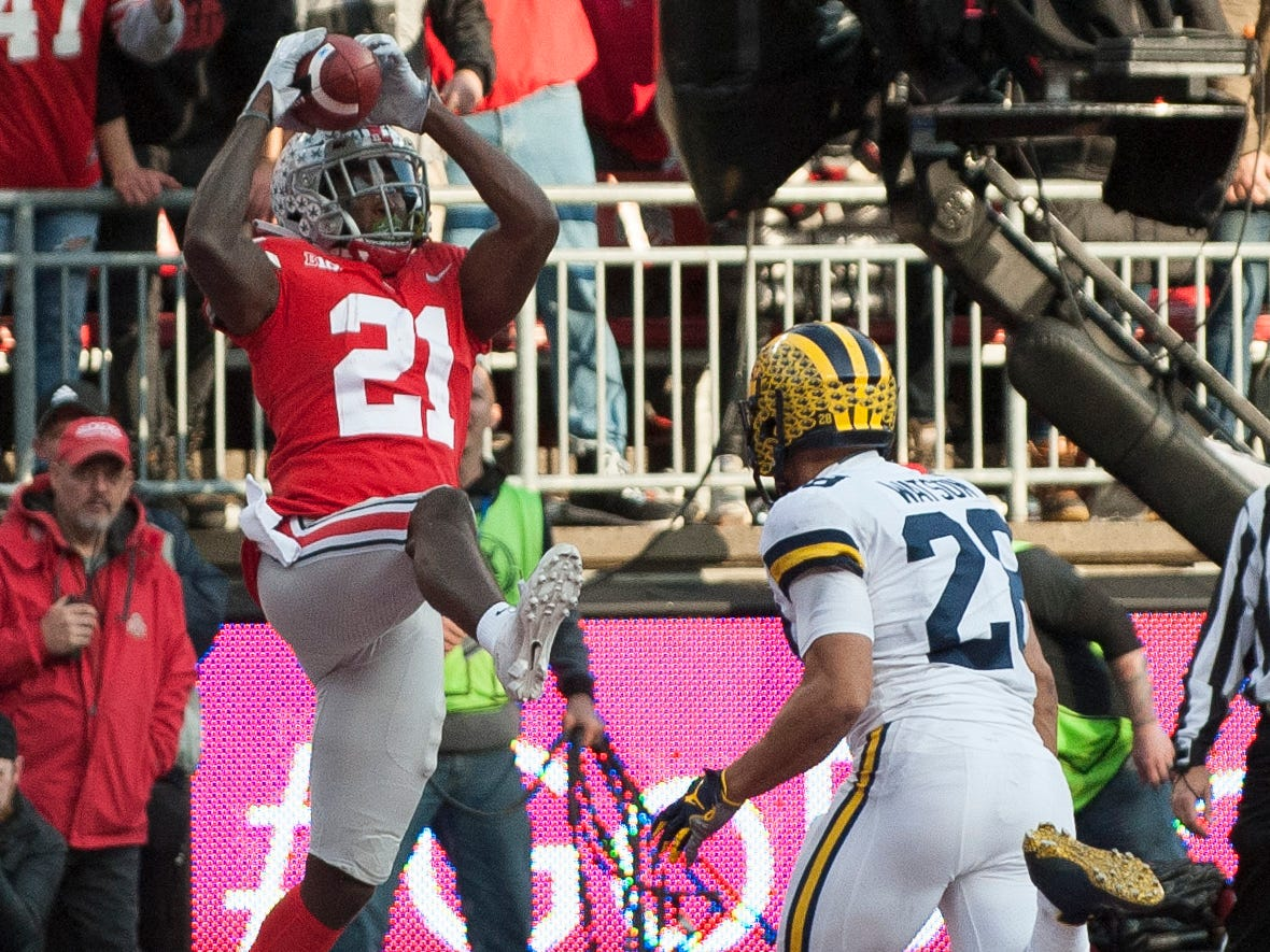 48. Parris Campbell, WR, Ohio State: One of the Big Ten's top playmakers, Campbell utilized his world-class speed to catch 79 passes this season. He's also a threat to run the ball on the jet sweep, which even as a play fake, puts strain on a defense.