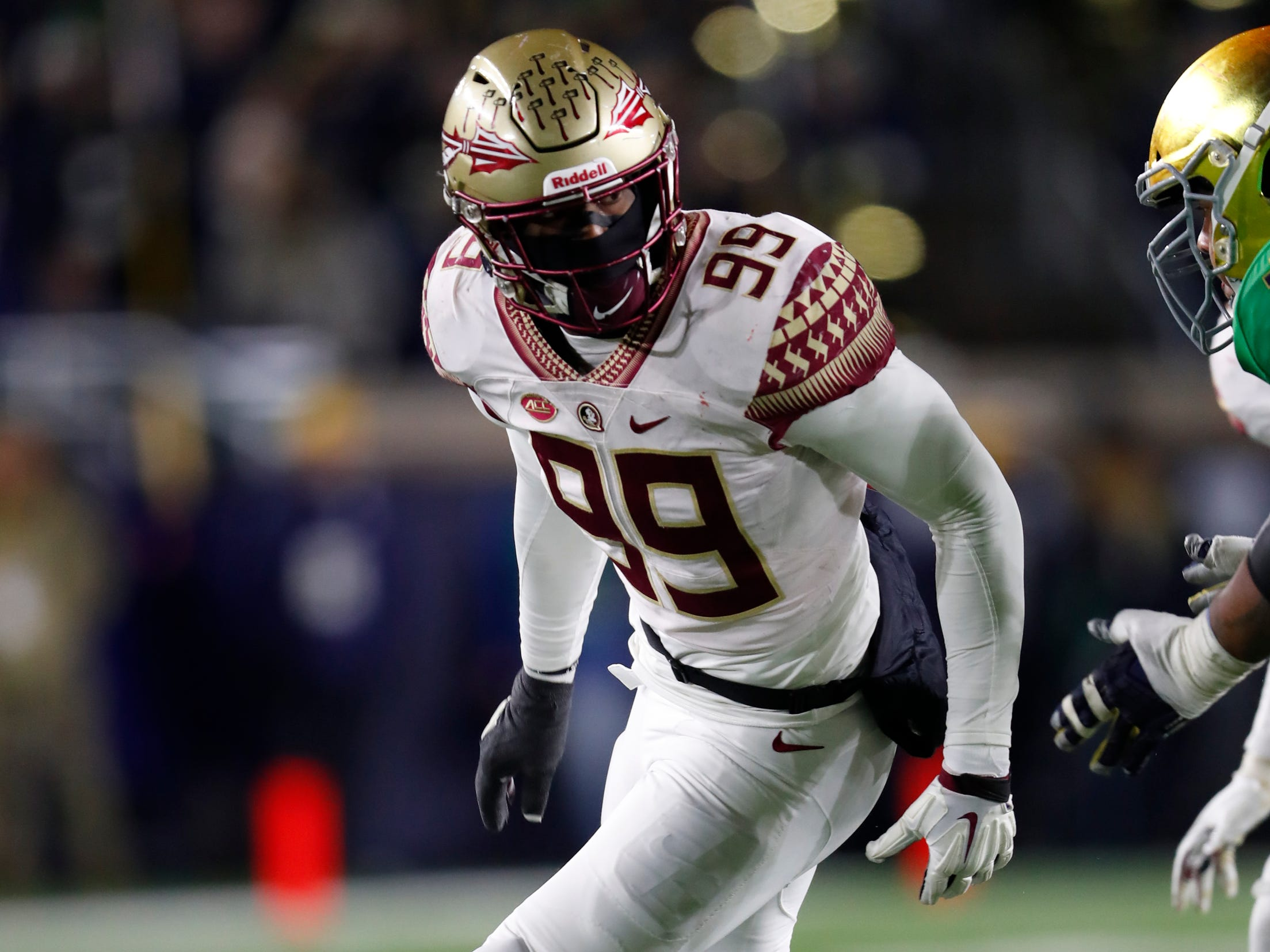 28. Brian Burns, LB, Florida State: It will be interesting to see what the scale says when Burns steps on it at the combine. The 6-foot-5 pass rusher is currently listed at 231 pounds, which is uncomfortably low for the physical responsibilities of an edge rusher at the professional level. But you can't knock the production, which includes 10 sacks and three forced fumbles.