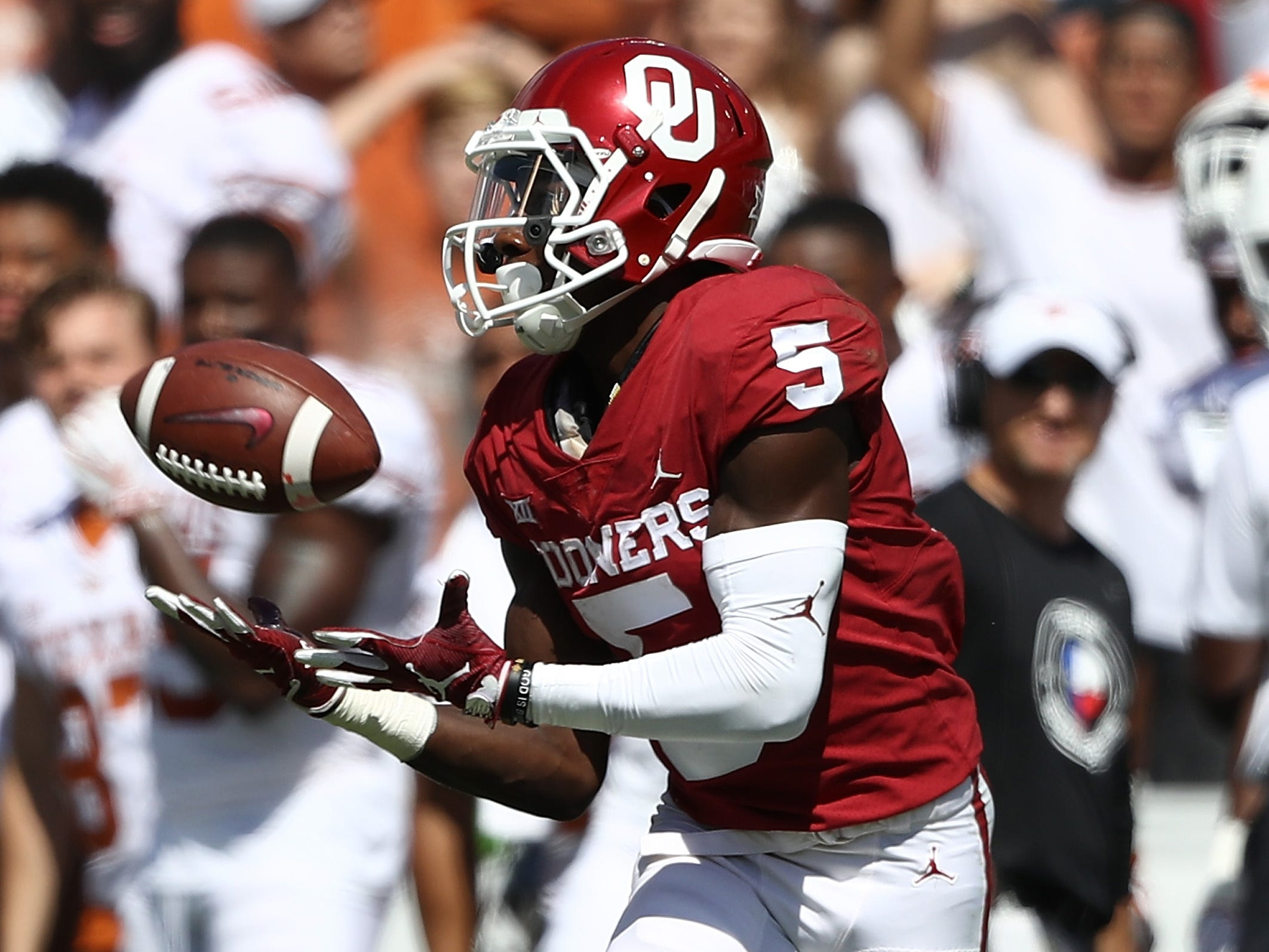 21. Marquise Brown, WR, Oklahoma: One of the most exciting playmakers in college football, Brown is a threat to score every time he touches the ball. The fleet-footed receiver has the long speed to take the top off a defense and the quickness to make tacklers miss in the open field.