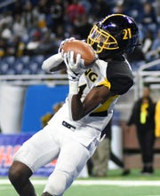 Detroit King wide receiver Ahmad Gardner was a standout receiver and a shutdown cornerback.