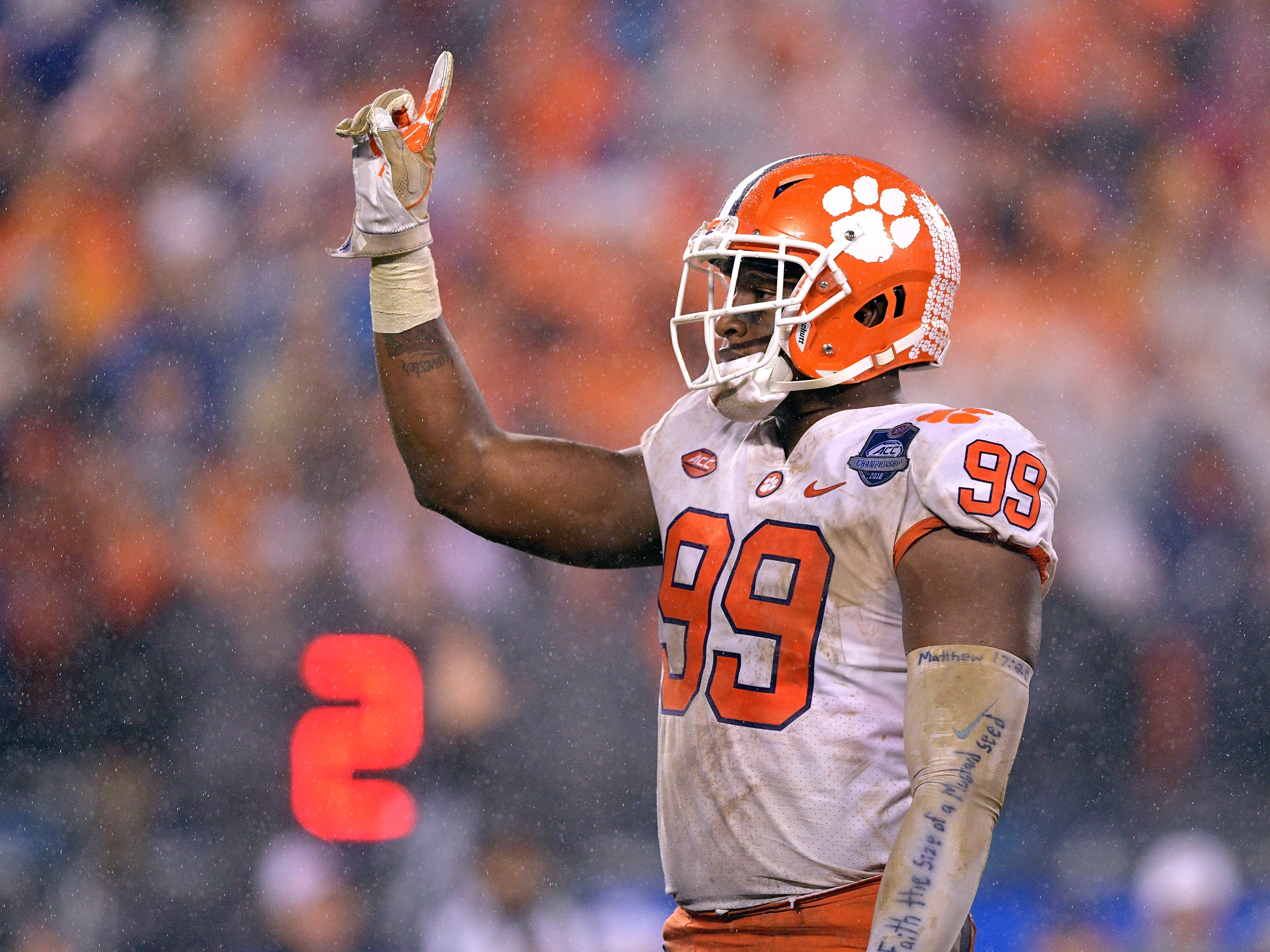3. Clelin Ferrell, DL, Clemson: Ferrell also has the size and length to replace Ansah on the closed side of the formation. Strong, powerful and instinctual, he should be a productive run defender right out the box, while his pass-rush skills are adequate for the system, but don't stack up to Bosa's.