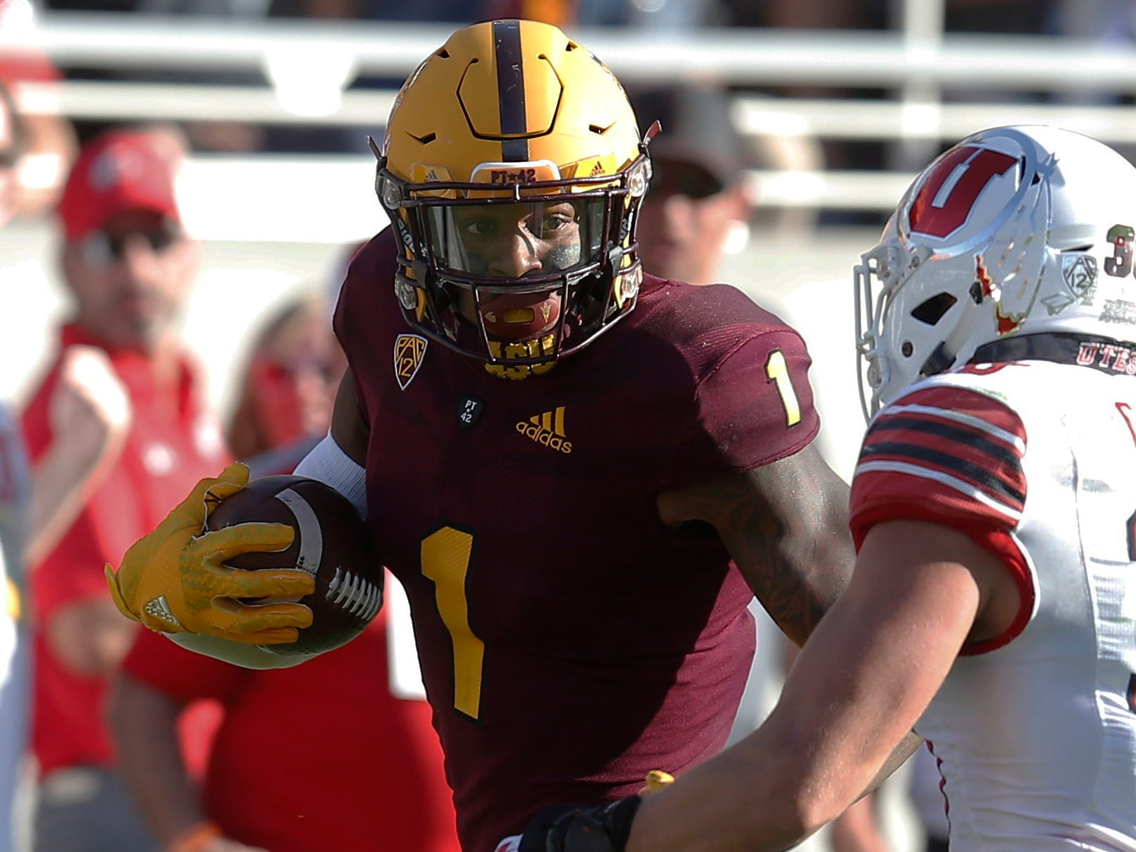 19. N'Keal Harry, WR, Arizona State:  Highly productive, Harry has snagged more than 150 balls over the past two years, topping 1,000 yards and eight touchdowns each of those seasons. He has potential to be a No. 1 receiver as a pro.