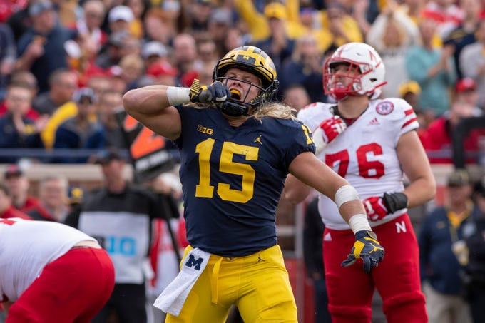 Go through the gallery to view Justin Rogers' NFL Draft Big Board for the Detroit Lions, which includes Michigan defensive end Chase Winovich (15).