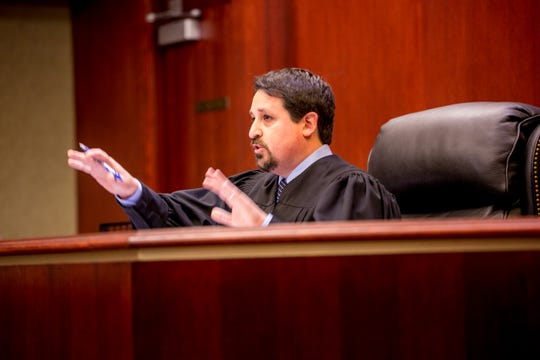 Judge Jamie Wittenberg sentences newly elected Oakland Circuit Judge Julie McDonald for a drunken driving incident at 44th District Court in Royal Oak, MI on Wednesday December 5, 2018.