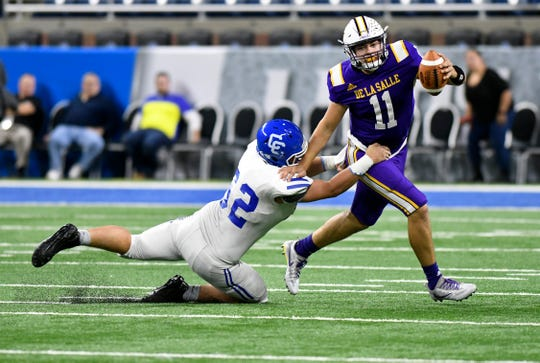 Detroit Catholic Central defensive tackle Lucas Hendershot (62) had 11 tackles for loss this season.