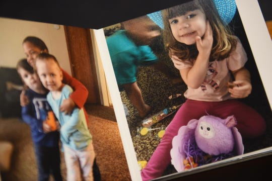 A photo book titled My Little Princess was shown at the October 9 sentencing of Brad Edward Fields for the death of 4-year-old Gabby Barrett. He is serving life in prison.
