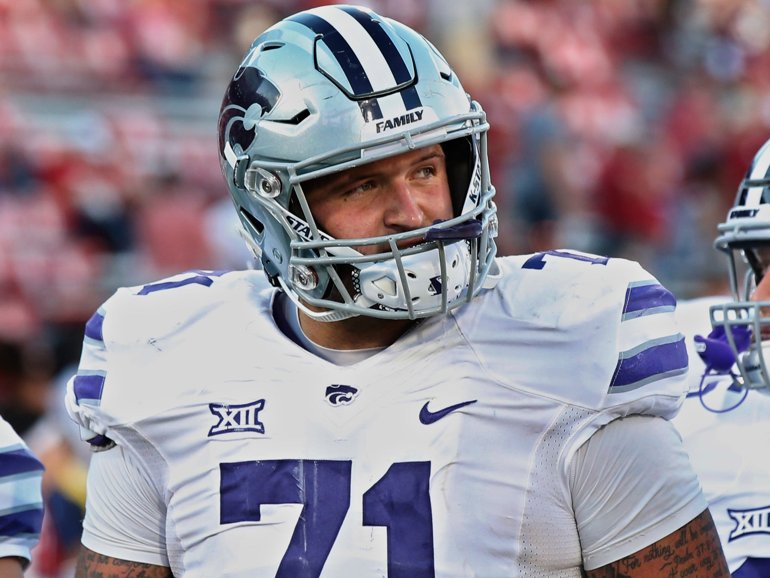 24. Dalton Risner, OL, Kansas State: Another college offensive tackle primed to make a seamless transition an interior spot. Risner possesses strong fundamentals, good technique and has shown the ability to operate well when pulling, making him a good guard candidate for Detroit.