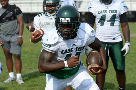 Running back Lew Nichols rushed for 23 touchdowns for Detroit Cass Tech.