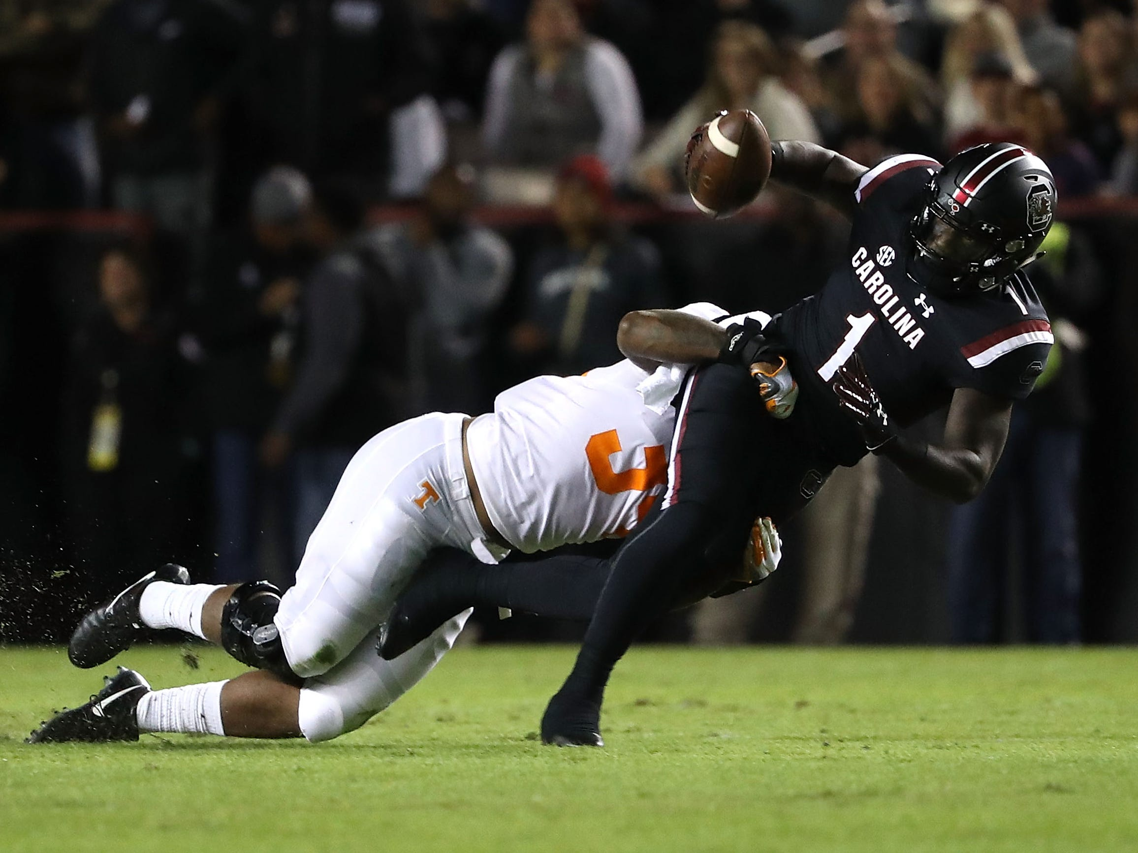46. Deebo Samuel, WR, South Carolina: More quick than fast, Samuel is the type of receiver who can get quick separation (something the Lions lack) and turn a short catch into a healthy gain by making a tacker or two miss. Not the biggest receiver, he's probably destined to spend most of his time in the slot. Can also return kicks.