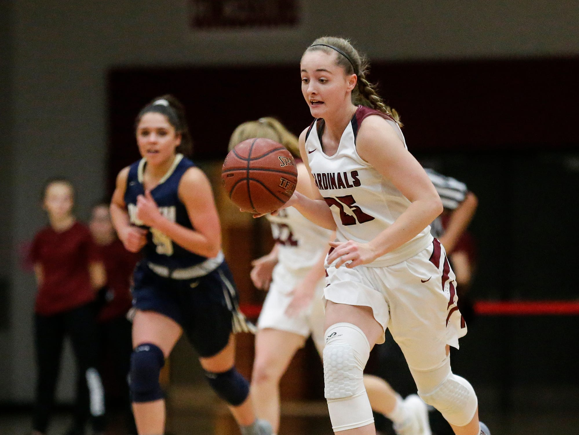 Fond du Lac High School girls basketball's Joslyn Herbeck moves down court with the ball against Appleton North High School during their game Tuesday, December 4, 2018 in Fond du Lac, Wisconsin. Doug Raflik/USA TODAY NETWORK-Wisconsin