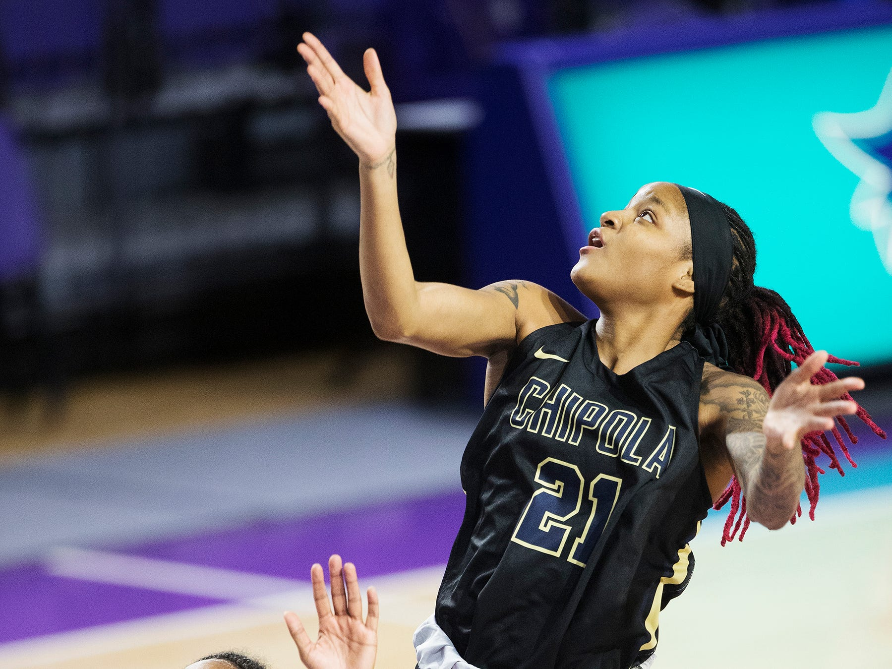 Chipola College's Dekeriya Patterson, a Dunbar High School graduate, returned to Fort Myers recently to play ASA Miami in the Florida Junior College Shootout at Suncoast Credit Union Arena. Patterson scored 25 points in Chipola's 75-40 win.