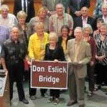 Resolution renaming Eslick bridge ready; Mann readies bid to change the name back