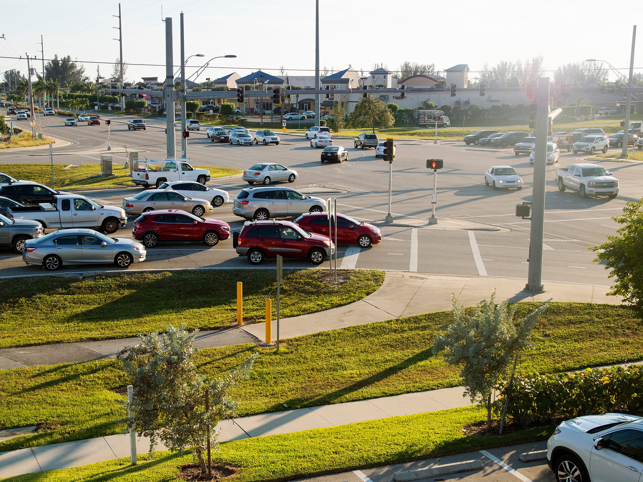 Traffic flows recently at the intersection of Veterans Memorial Parkway and Santa Barbara Boulevard in Cape Coral.