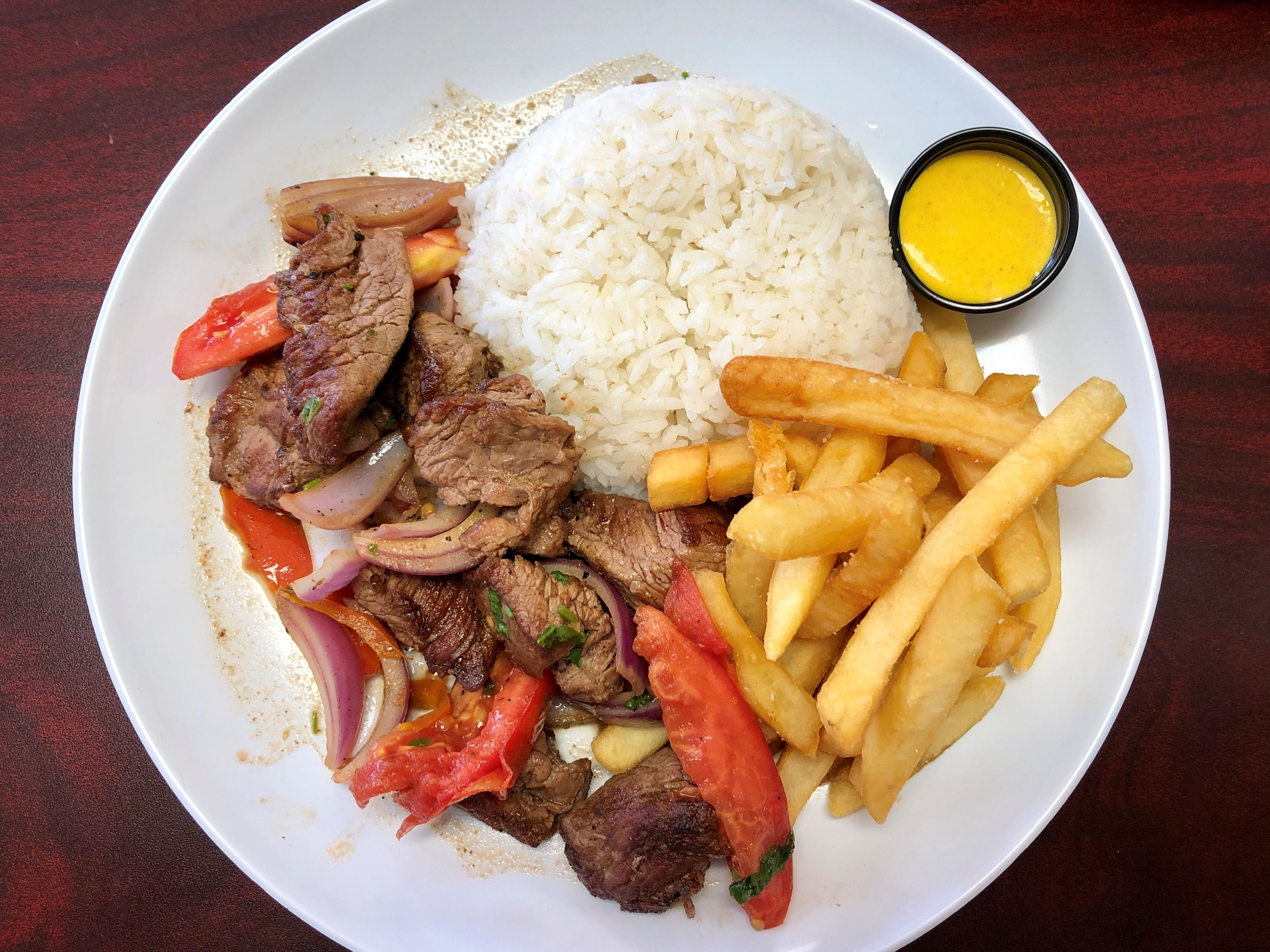 Lomo saltado made with wonderfully tender steak from Renzo's Peruvian Kitchen in Cape Coral.
