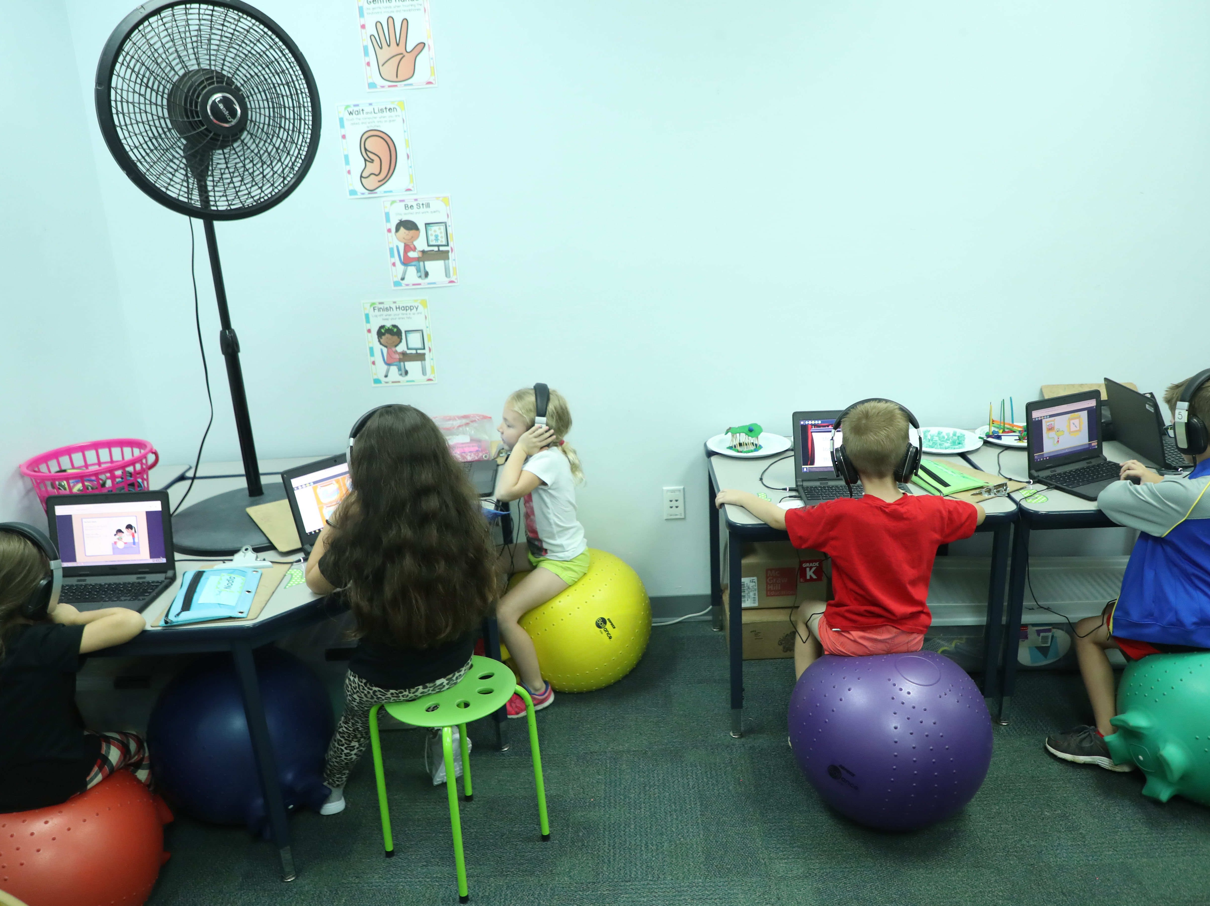Several classrooms at Gulf Elementary School in Cape Coral are offering flexible seating for students. Teachers say they have seen improved performance.