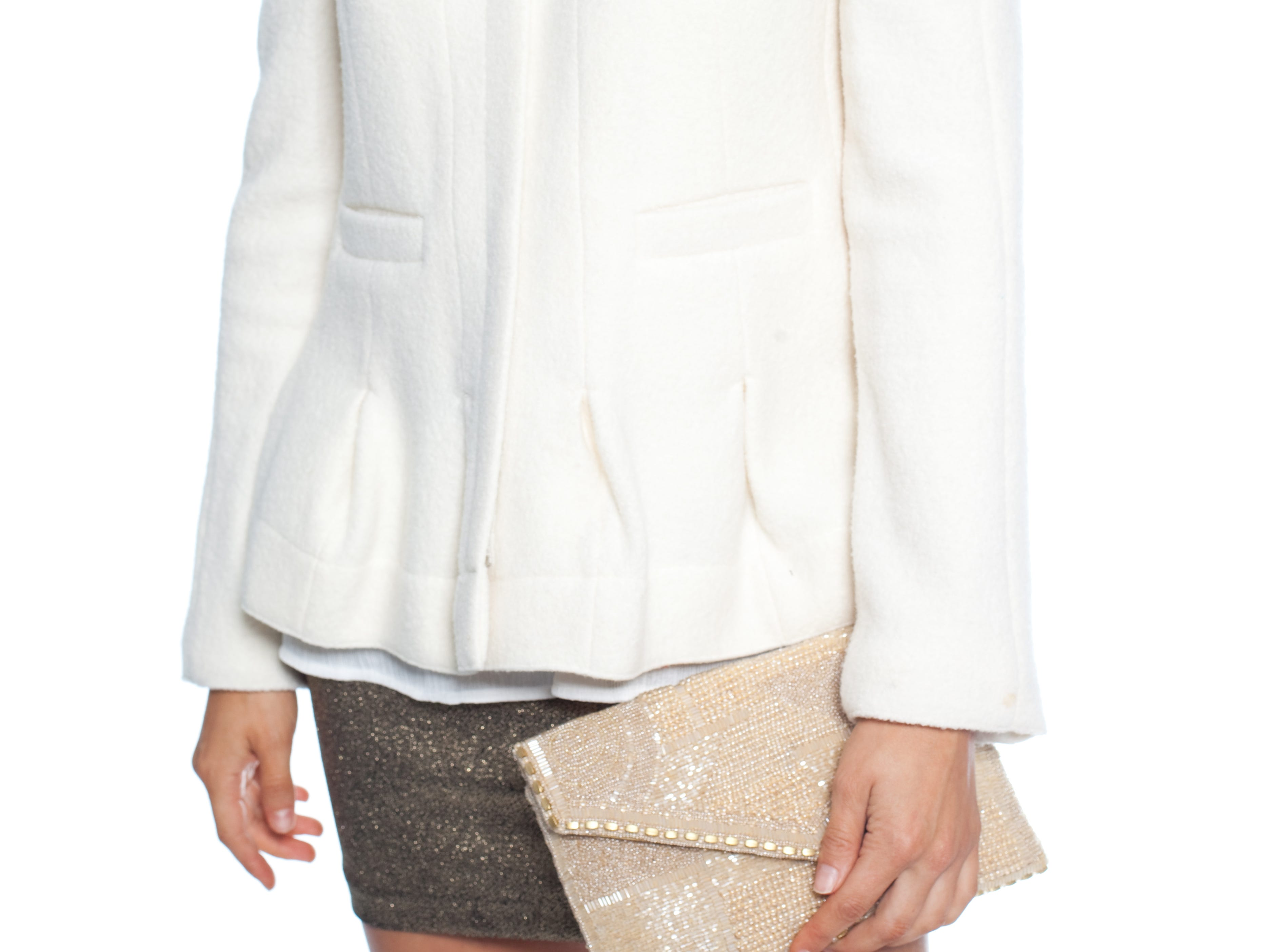 Jacket: Carven, Labels on Augusta | Silk Tank: Marie Oliver, Monkees of the West End Skirt: BCBG, Labels on Augusta | Clutch: Marie Frances, Cocobella