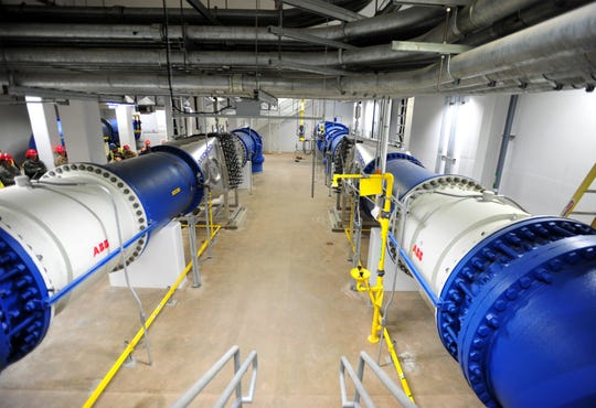 Combined, two new ultraviolet reactors at the Great Falls Water Treatment Plant will have the capacity to treat up to 54 million gallons of water a day.