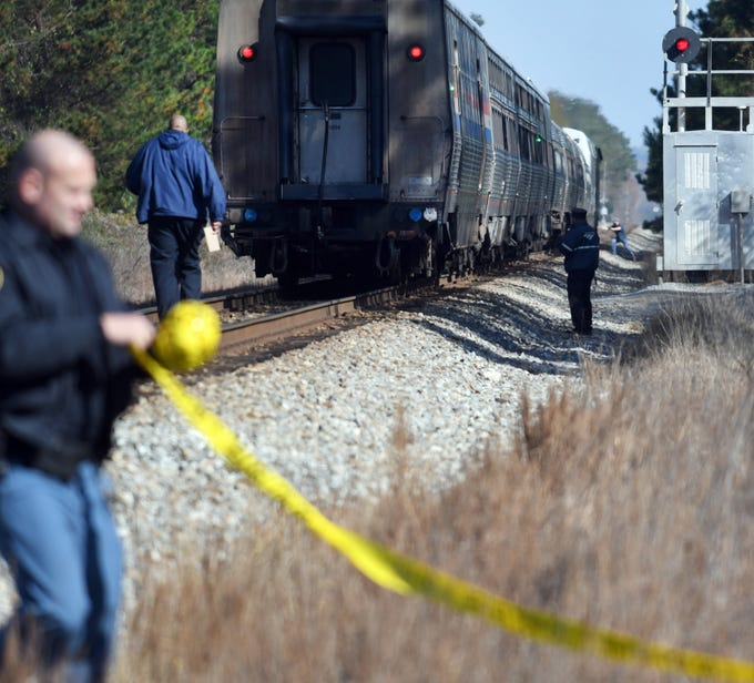 A pedestrian was hit by an Amtrak train Wednesday morning.