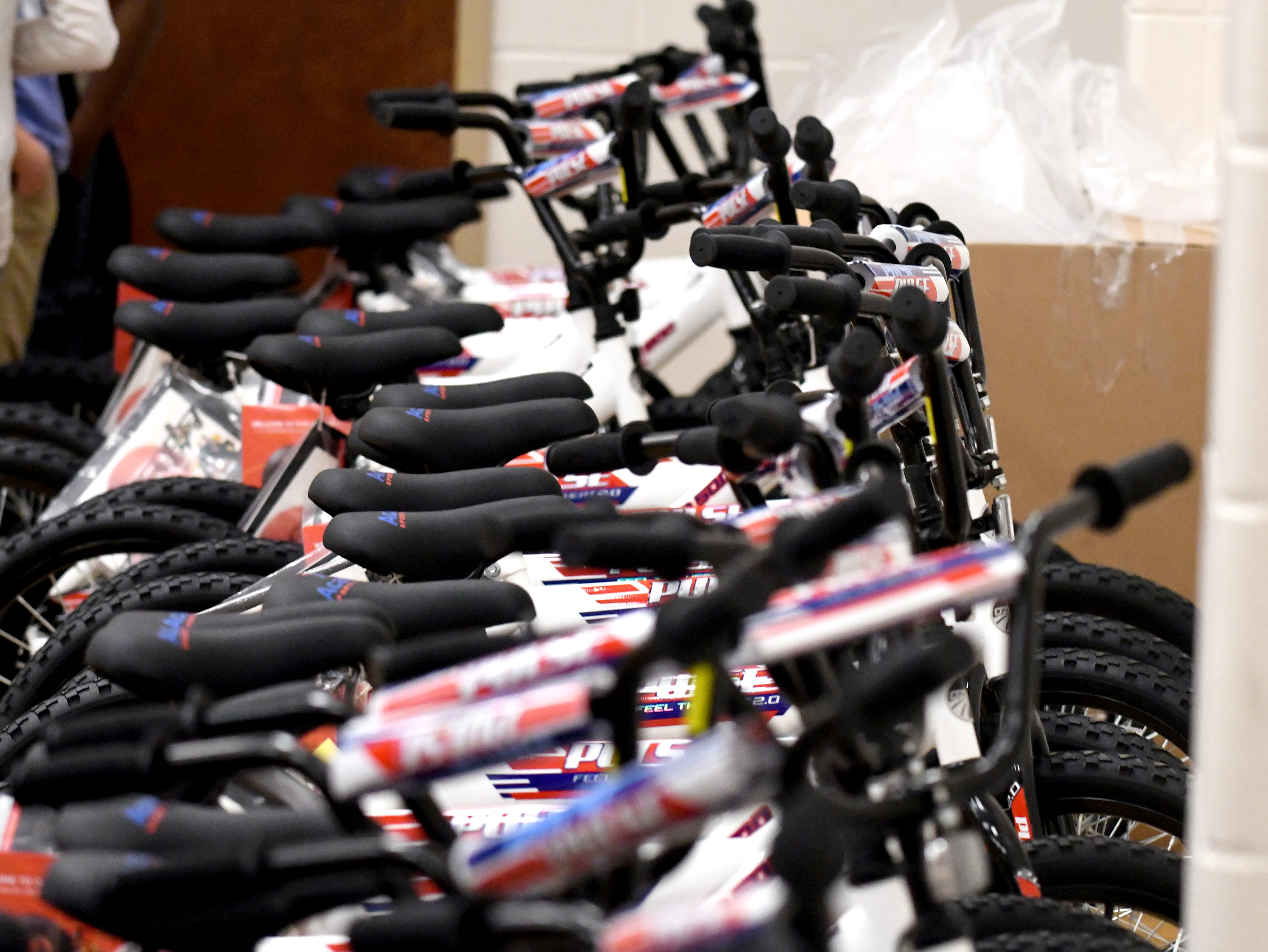 Students are selected to win a bicycle at Purvis Upper Elementary on Wednesday, December 5, 2018. Academy Sports and Outdoors donated 30 bicycles to deserving students to Purvis Upper Elementary as part of its annual bike donation program.