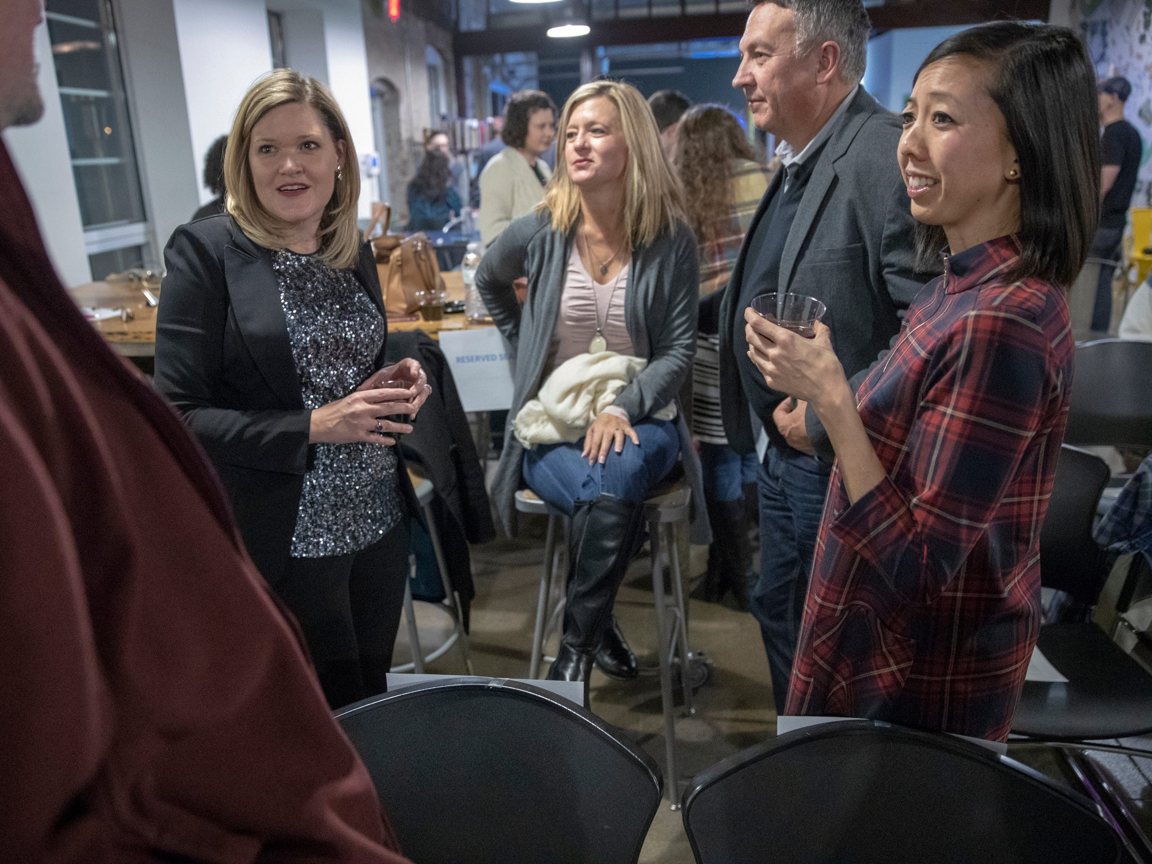 Images from IndyStar's Storytellers event featuring stories about music, at Tube Factory Artspace, Indianapolis, Tuesday, Dec. 4, 2018.