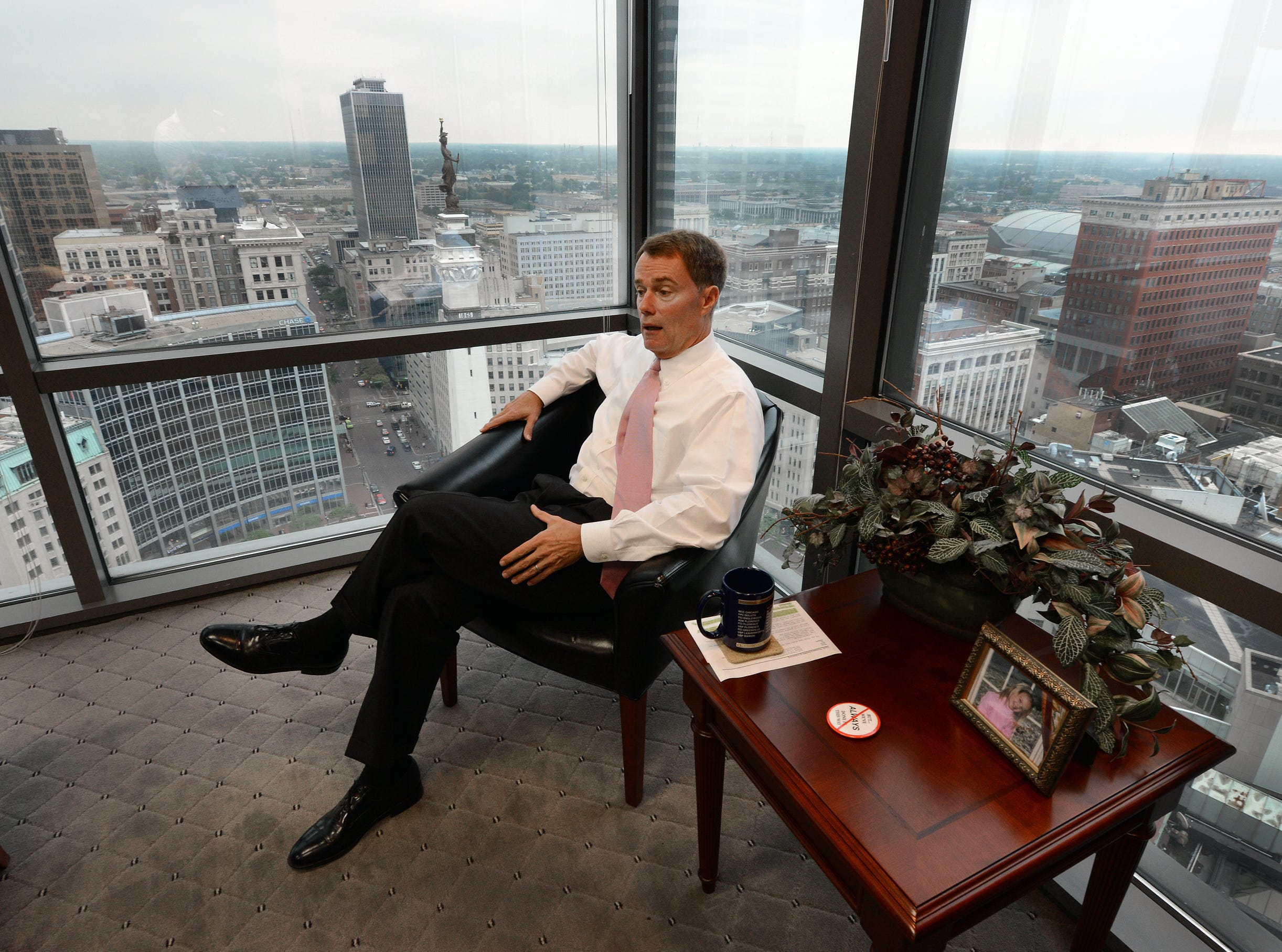 Joe Hogsett, United States Attorney for the Southern District of Indiana,  Thursday July 19, 2012, morning in his office overlooking Monument Circle.