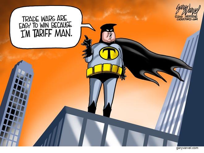 Cartoonist Gary Varvel: Trump is Tariff Man