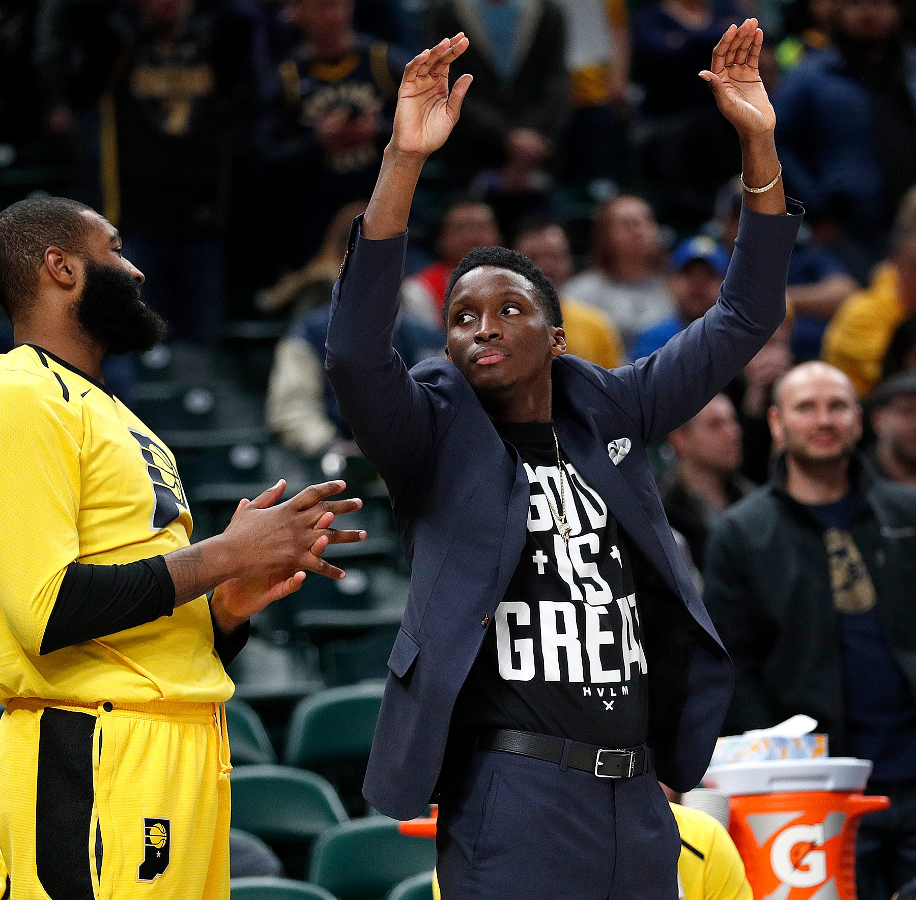 Pacers coach Nate McMillan: Victor Oladipo will start against Bucks