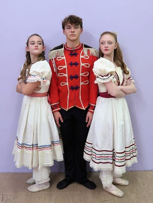 Mimi Campbell, Patrick Roe and Kasey Davis are all a big part of The Nutcracker production at The Carl Perkins Civic Center this weekend.