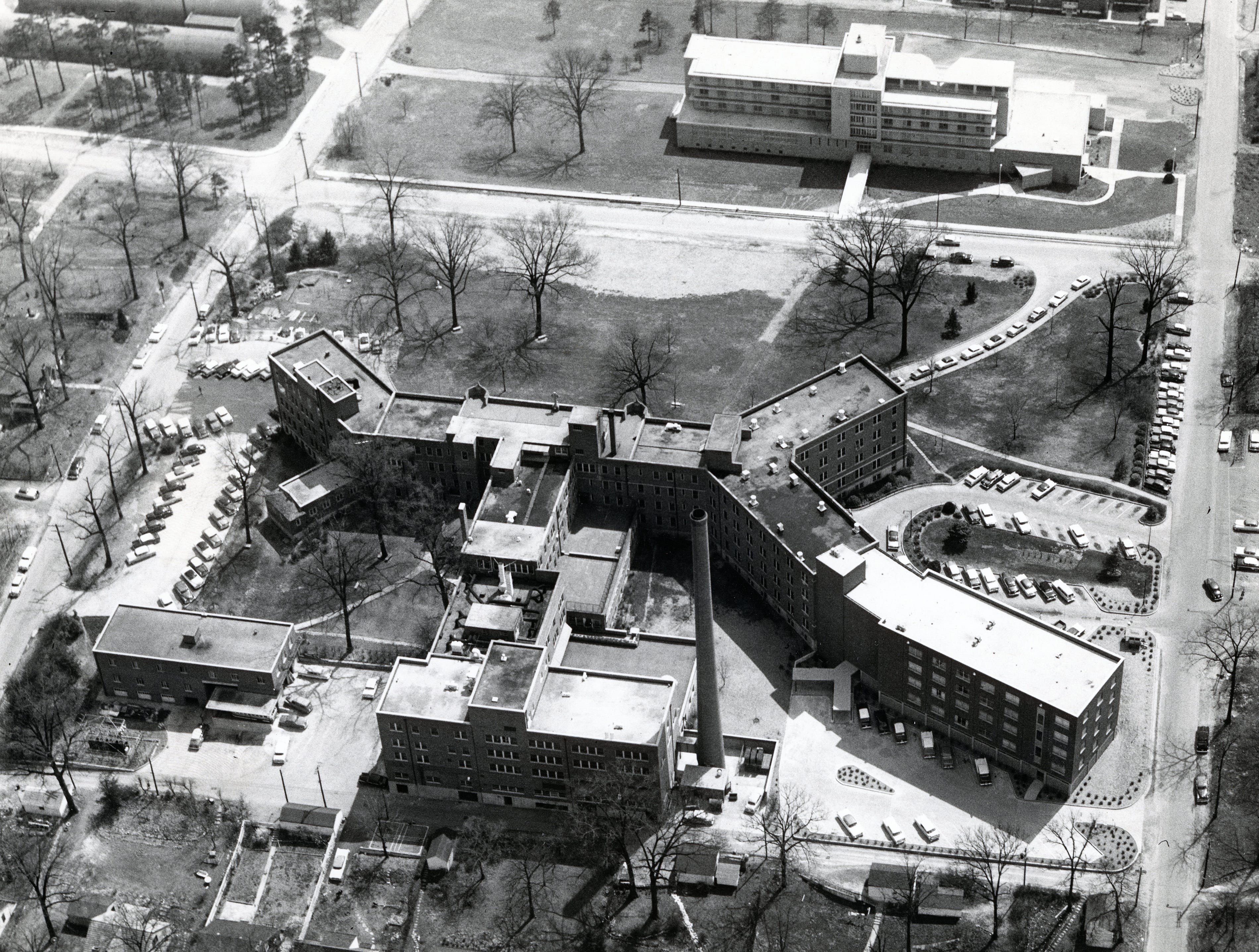 View of St. Mary's in April 1958.