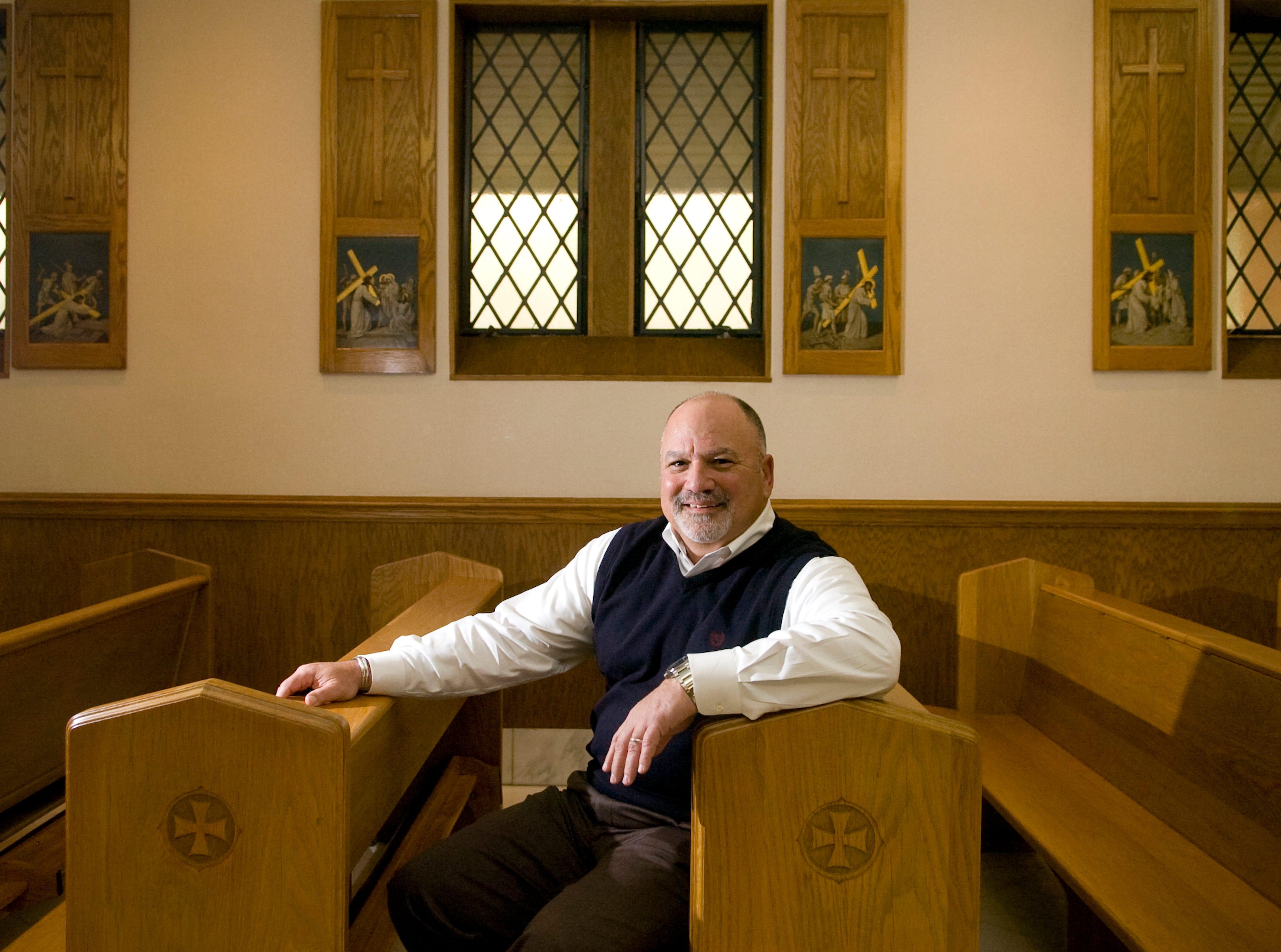 Jeff Ashin, CEO of Mercy Health Partners, photographed inside the chapel at St. Mary's Hospital on Wednesday, January 19, 2011.